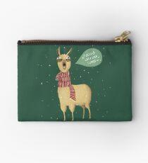 Holiday Llama Studio Pouch