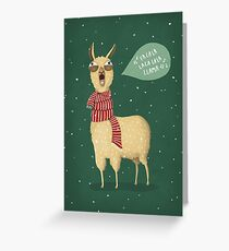 Holiday Llama Greeting Card
