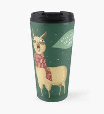 Holiday Llama Travel Mug