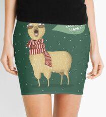 Holiday Llama Mini Skirt
