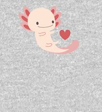 Axolotls hearts and bubble Kids Pullover Hoodie