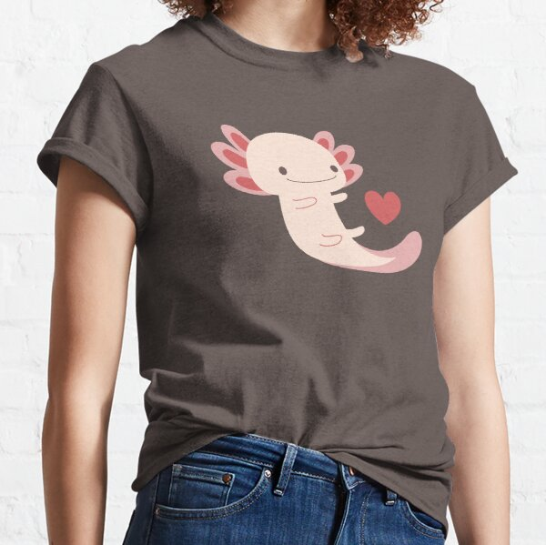 Axolotls hearts and bubble Classic T-Shirt
