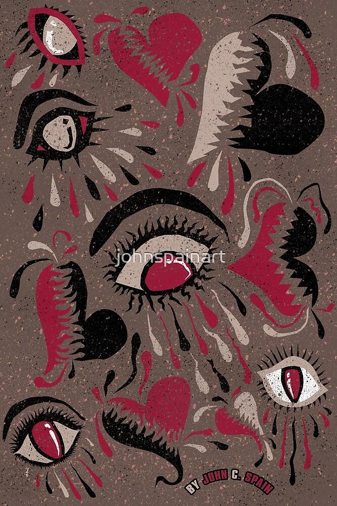 Heartbreaks & Teardrops by johnspainart