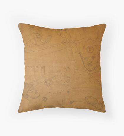 FAB Four & Bhaji – Cricket Stars  Throw Pillow