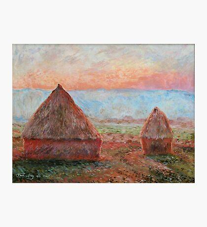 Haystacks - Tom Godfrey after Monet Photographic Print
