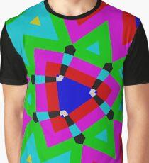 Colorful Kaleidoscope Graphic T-Shirt