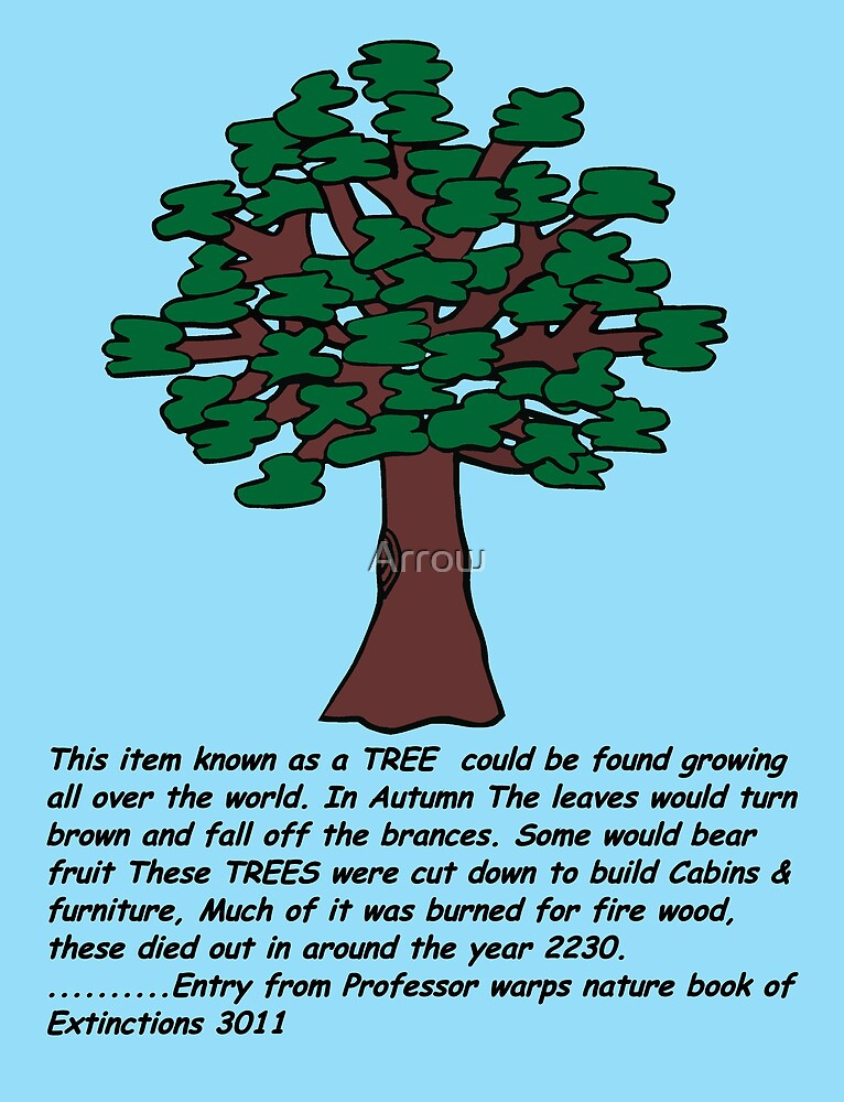 TREE: From Professor Warps Nature Book Of Extinctions 3011 by Arrow