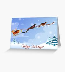 Dashing Hounds Holiday Card Greeting Card
