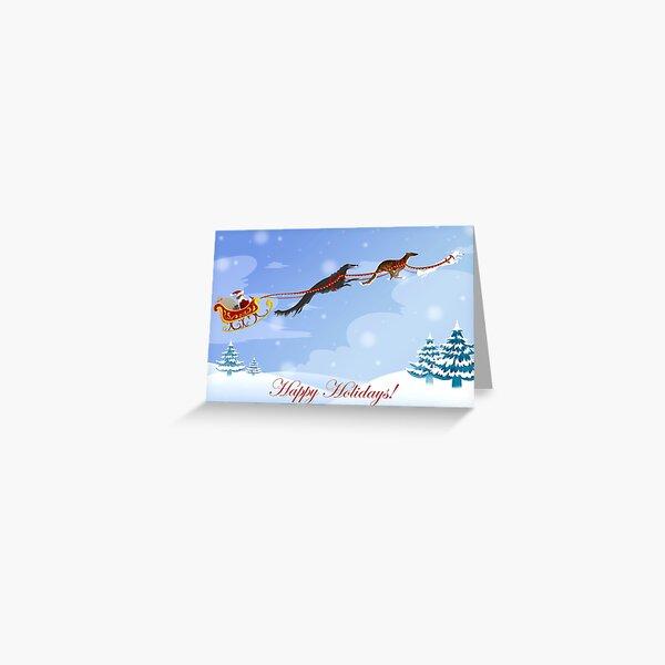 Dashing Hounds Holiday Card Greeting Card