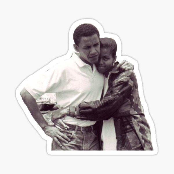 michelle and barack obama Sticker