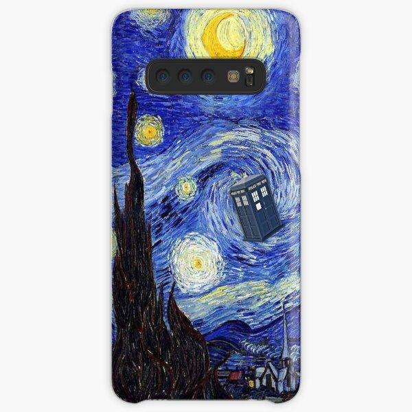 A Starry Night Van Gogh Mountain Inspiration With Tardis Samsung Galaxy Snap Case