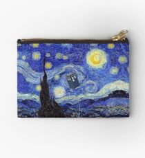 A Starry Night Van Gogh Mountain Inspiration With Tardis Studio Pouch