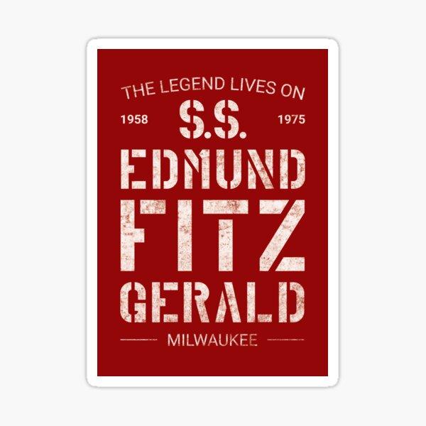 Die Legende lebt auf SS Edmund Fitzgerald Sticker
