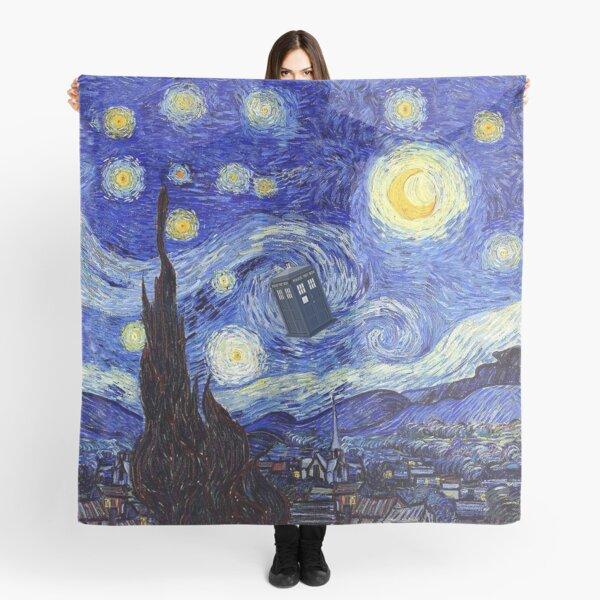 A Starry Night Van Gogh Mountain Inspiration With Tardis Scarf