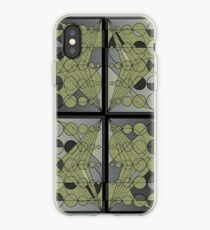 Circles and lines iPhone Case