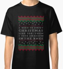 Skyrim Ugly Christmas  - Took an Arrow in the Knee Classic T-Shirt
