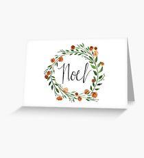 """Noel"" Holiday Wreath Greeting Card"