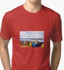 Port Macquarie Breakwall Graffiti Watercolour Painting Tri-blend T-Shirt