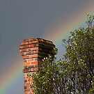 Old Chimney with Rainbow.......!! by Roy  Massicks