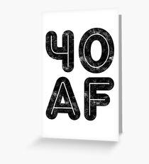 40 AF Grußkarte