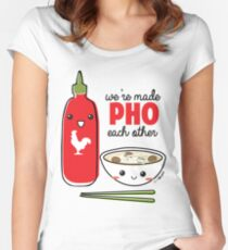We're Made PHO Each Other Women's Fitted Scoop T-Shirt