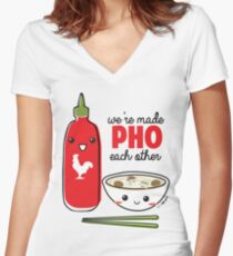 We're Made PHO Each Other Women's Fitted V-Neck T-Shirt