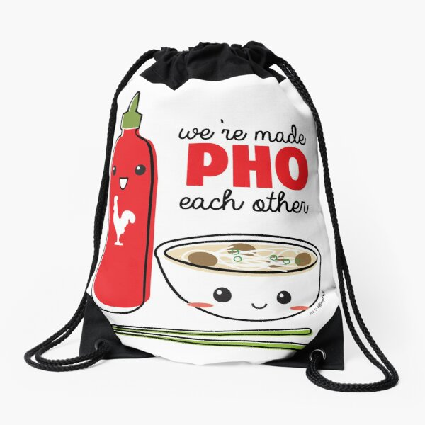 We're Made PHO Each Other Drawstring Bag