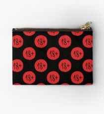 age restriction sign seamless doodle pattern Studio Pouch