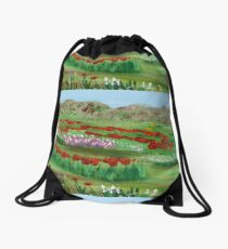 Poppy garden Drawstring Bag