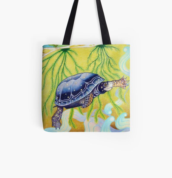 Spotted Turtle All Over Print Tote Bag