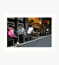 Lunchtime in Centre Way Art Print