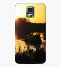 Narrowboat lovers at sunset - Fenland, England Case/Skin for Samsung Galaxy
