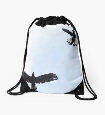 Yellow Tailed Black Cockatoos, Eden Hills Drawstring Bag