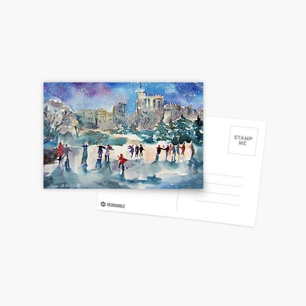 Ice Skating At Windsor Castle London Postcard