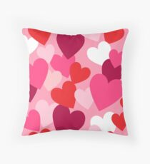 Sweet Hearts for your Sweetheart Throw Pillow