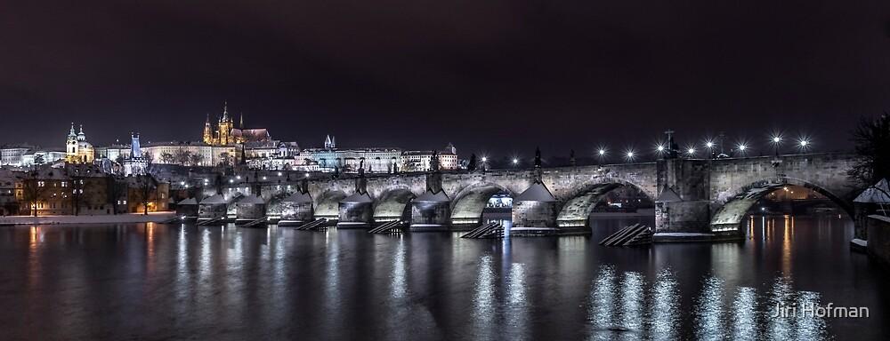 Prague castle and Charles bridge by Jiri Hofman