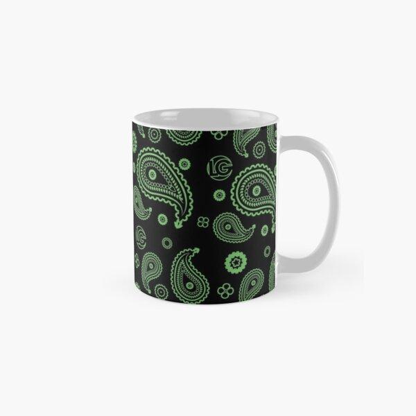 LG - The Modern Man - Art Toy Artwork - Green Paisley (BLK) Classic Mug