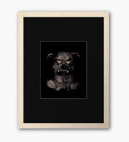 Evil Bear Framed Print