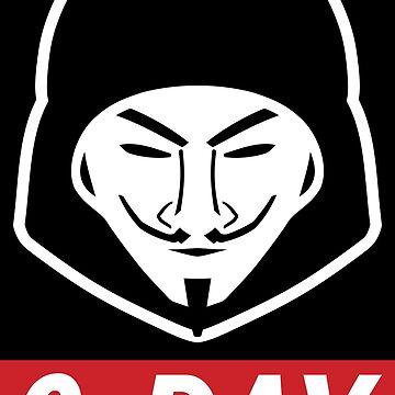 0-Day - Red/White Computer Hacker Design by geeksta