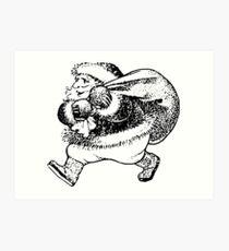 Santa Sack Art Print