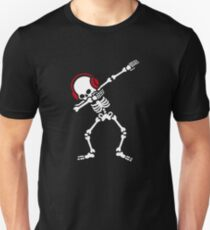 Skelton Dab Dabben Headphones Music Slim Fit T-Shirt