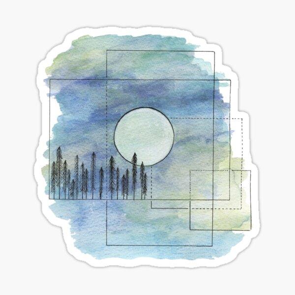 Geometric Forest Sticker
