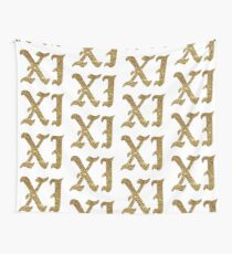 xi gold font Wall Tapestry