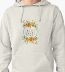 Be Wild Fall Flowers Pullover Hoodie