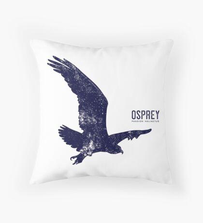 Osprey Taking Flight Throw Pillow