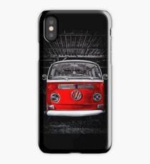 Volkswagen kombi camper Red iPhone Case/Skin