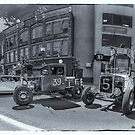 1931 Ford Model A pickup & 1929 Ford Model A roadster hot rods by kenmo