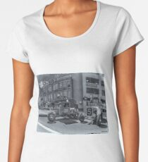 1931 Ford Model A pickup & 1929 Ford Model A roadster hot rods Women's Premium T-Shirt