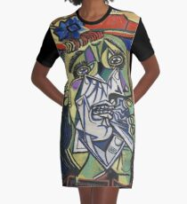 The Weeping Woman-Pablo Picasso Graphic T-Shirt Dress