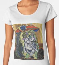 The Weeping Woman-Pablo Picasso Women's Premium T-Shirt